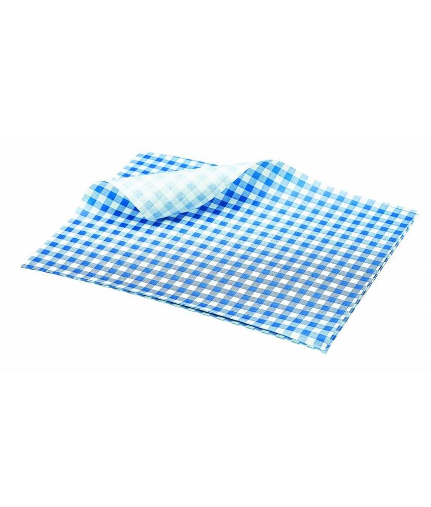 Stylepoint Vetvrij papier blauw geblokt 25 x 20 cm 1000st 1 stuk(s)