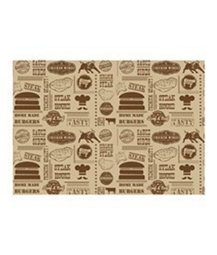 Stylepoint Vetvrij papier 'Steak House Design' 35x25cm 1000st 1 stuk(s)