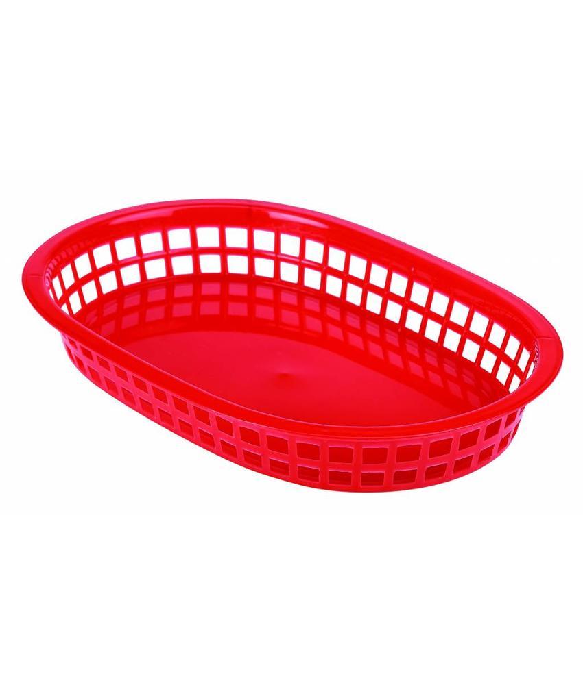 Stylepoint Fastfood mandje rood 27,5 x 17,5 cm 6 stuk(s)