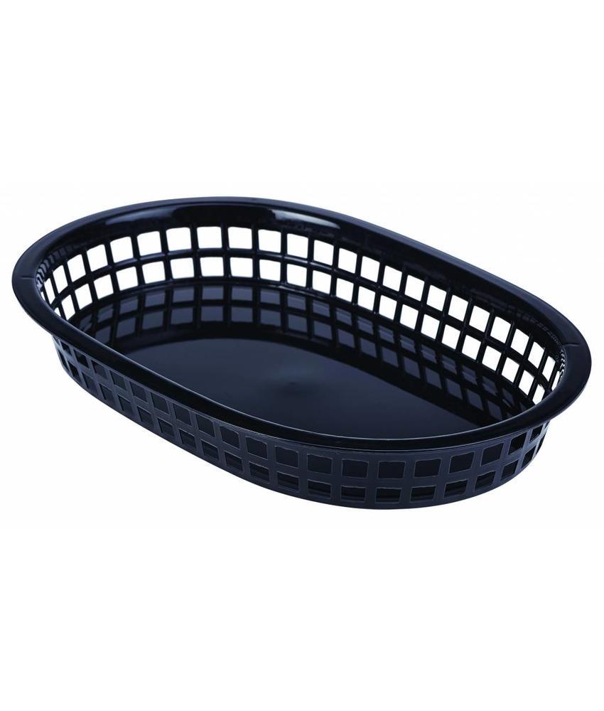 Stylepoint Fastfood mandje zwart 27,5 x 17,5 cm 6 stuk(s)