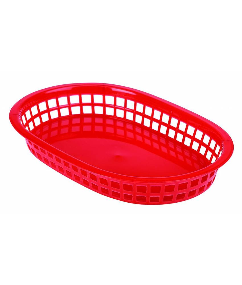 Stylepoint Fastfood mandje rood 23,5 x 15,4 cm 6 stuk(s)