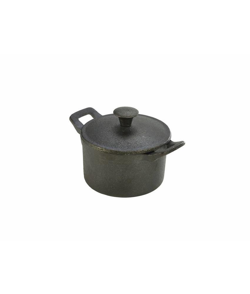 Stylepoint Gietijzer mini pan rond met handvat/deksel 400 ml 6 stuk(s)