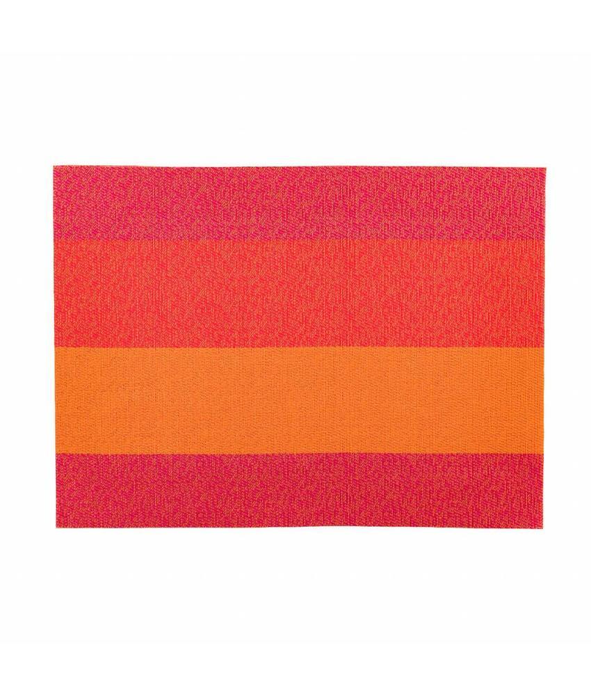 Stylepoint Placemat rechthoekig Oranje/Rood/Roze 45 x 33 cm 24 stuk(s)