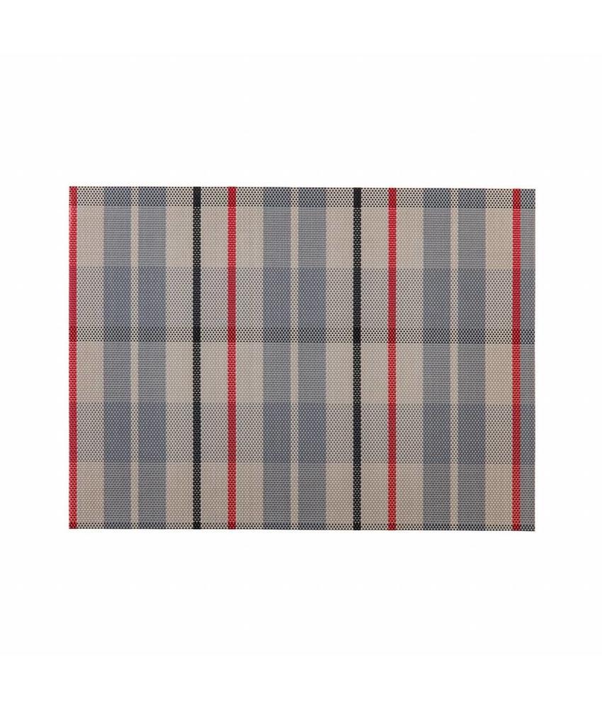 Stylepoint Placemat rechthoekig Geruit 45 x 33 cm 24 stuk(s)
