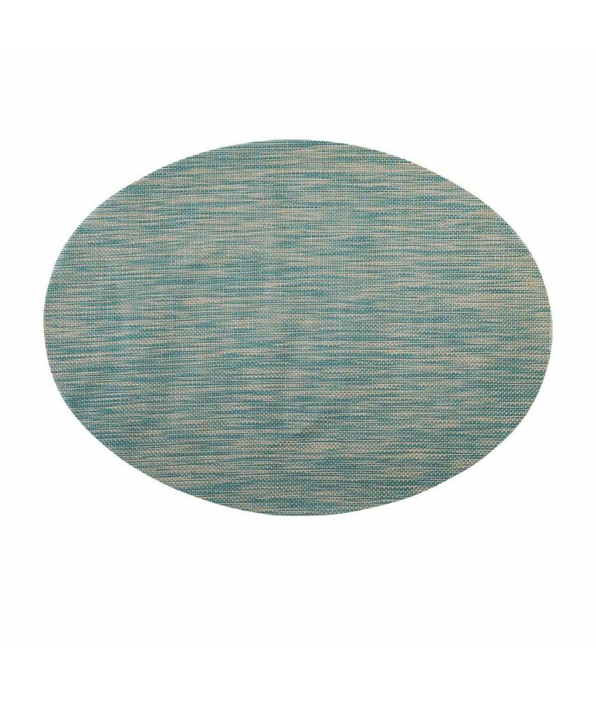 Stylepoint Placemat ovaal Blauw/Wit/Koper 49 x 36 cm 24 stuk(s)