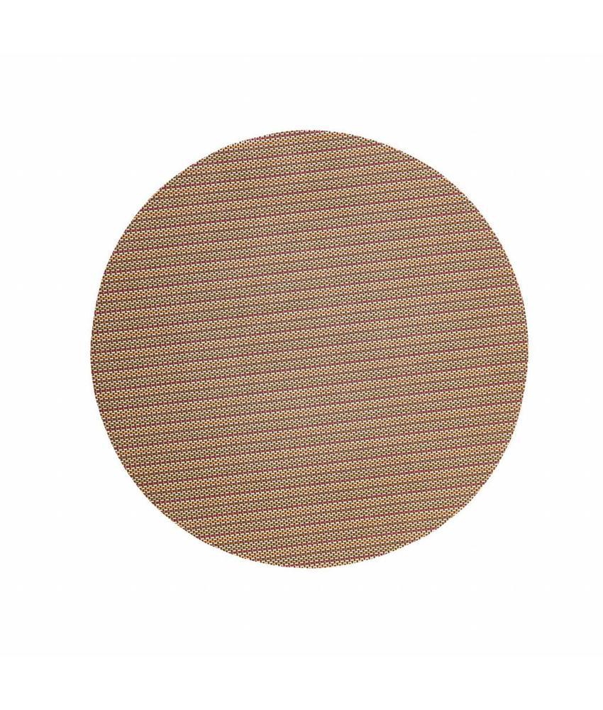 Stylepoint Placemat rond Zilver/Koper 38 cm 24 stuk(s)
