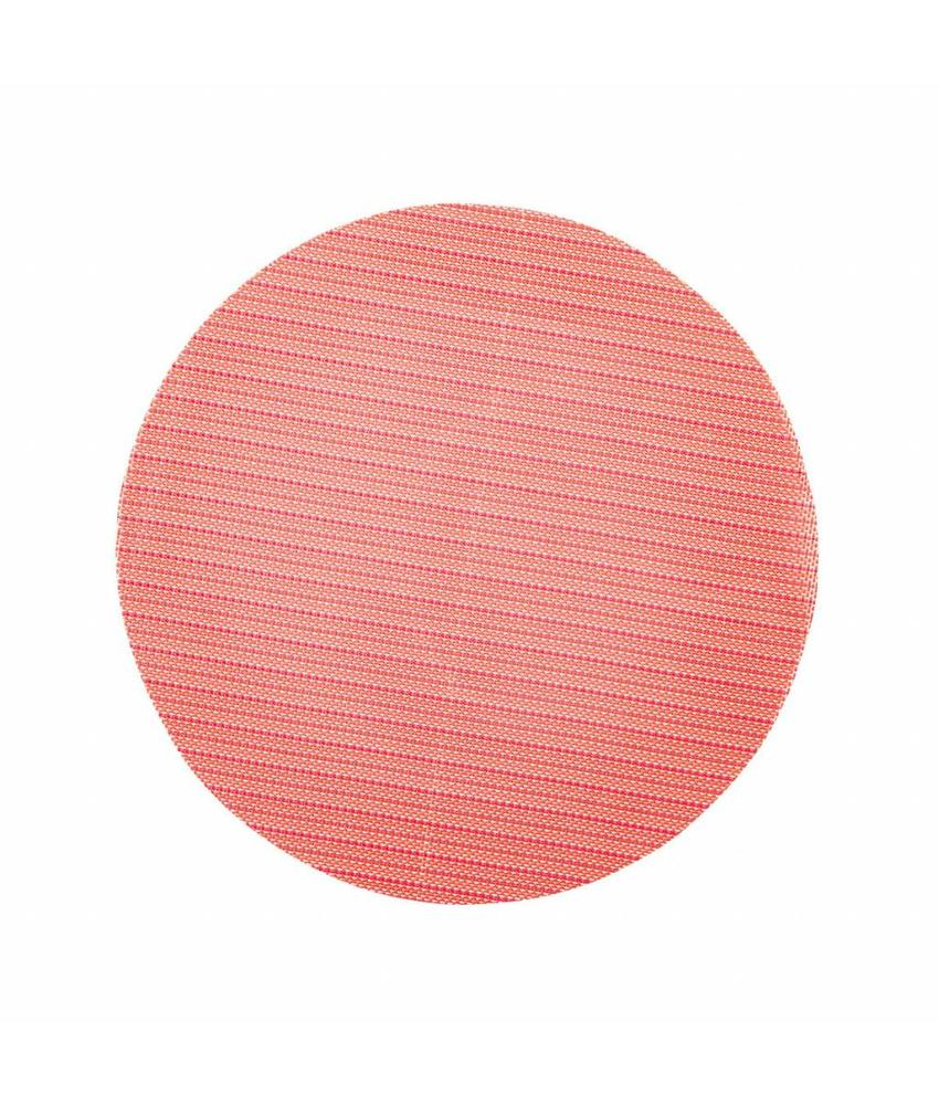 Stylepoint Placemat rond Rood/gestreept 38 cm 24 stuk(s)