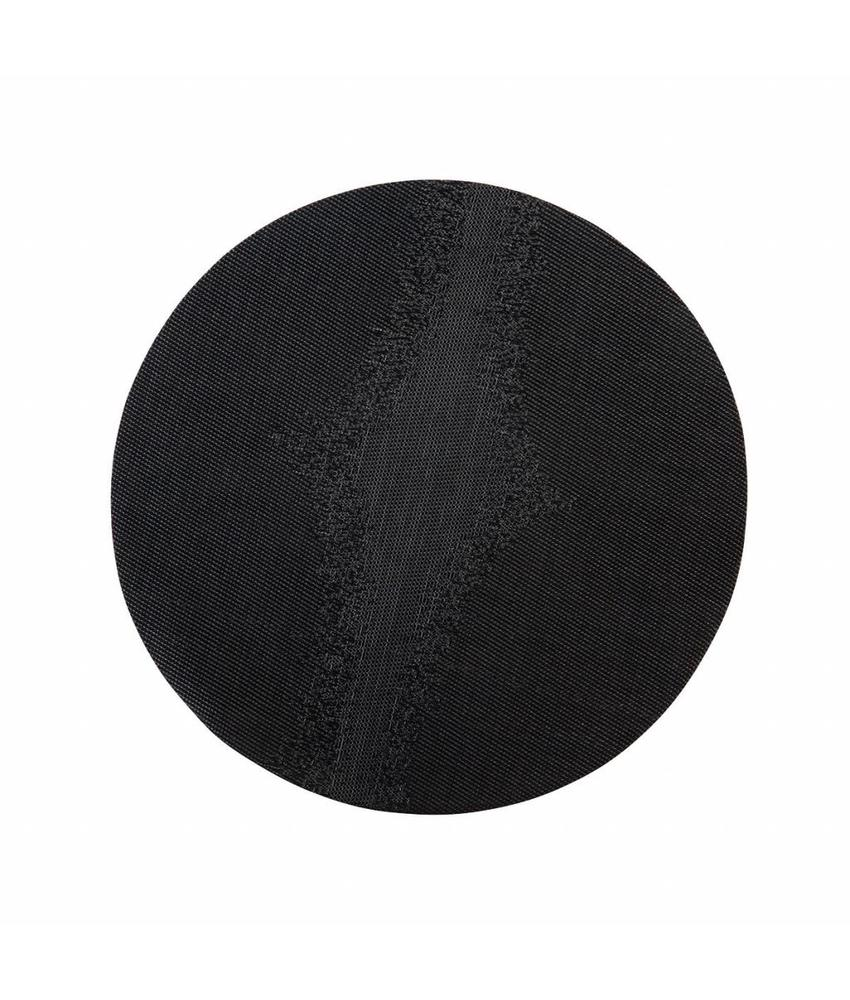Stylepoint Placemat rond Zwart 38 cm 24 stuk(s)