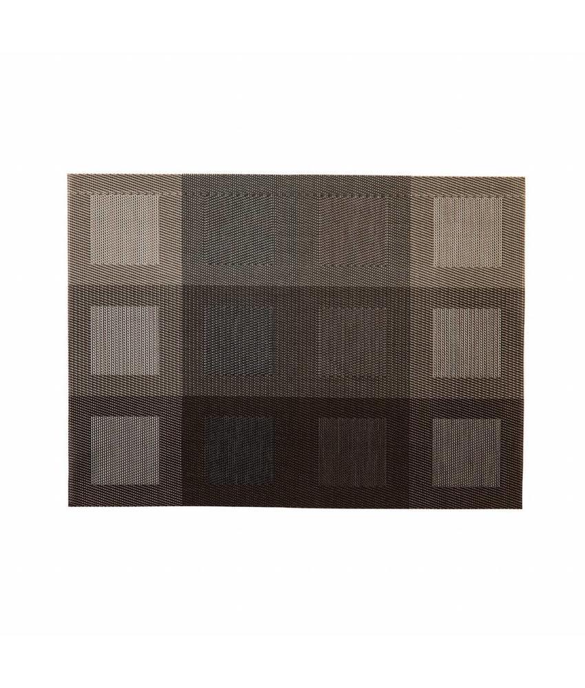Stylepoint Placemat rechthoekig Zilver/Bruin 45 x 33 cm 24 stuk(s)