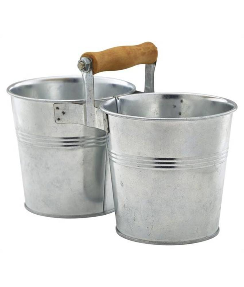 Stylepoint Gegalvaniseerde stalen duo serveeremmer 12 cm 6 stuk(s)
