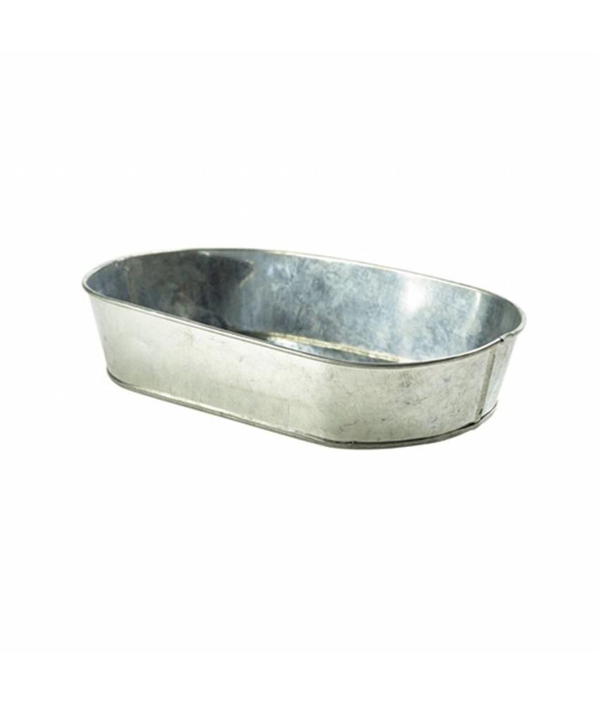 Stylepoint Gegalvanis. stalen serveerschaal ovaal 24 x 15 cm 9 stuk(s)