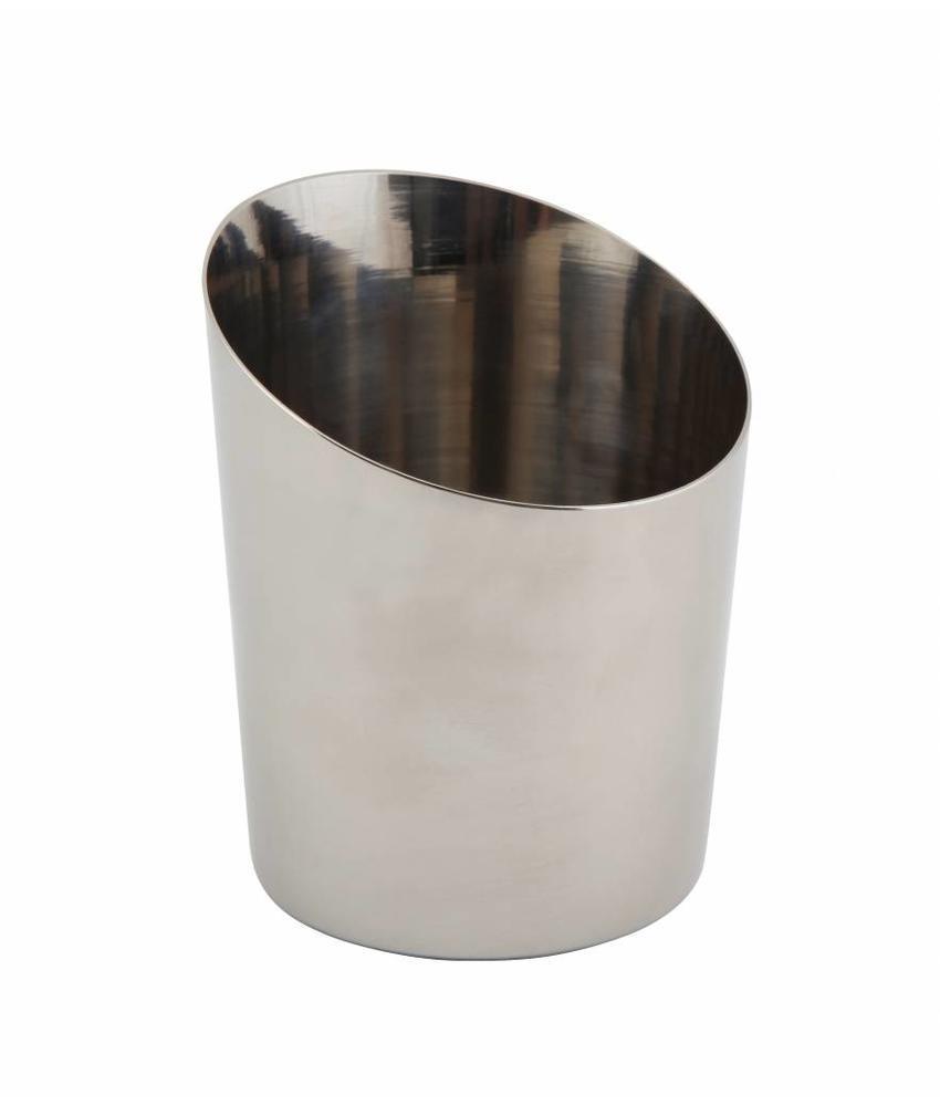 Stylepoint RVS friet/presentatiebakje glad schuin 9,5 cm 24 stuk(s)