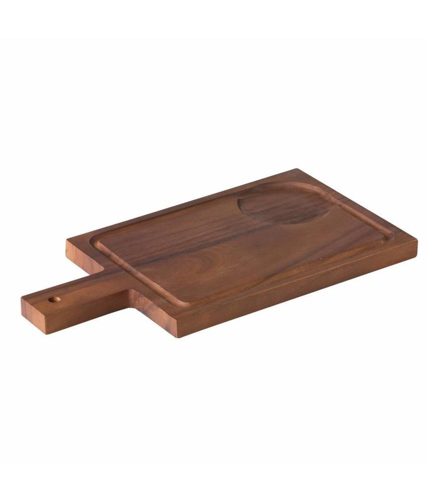 Stylepoint Acacia plank met handvat incl inkeping voor kom 1 stuk(s)