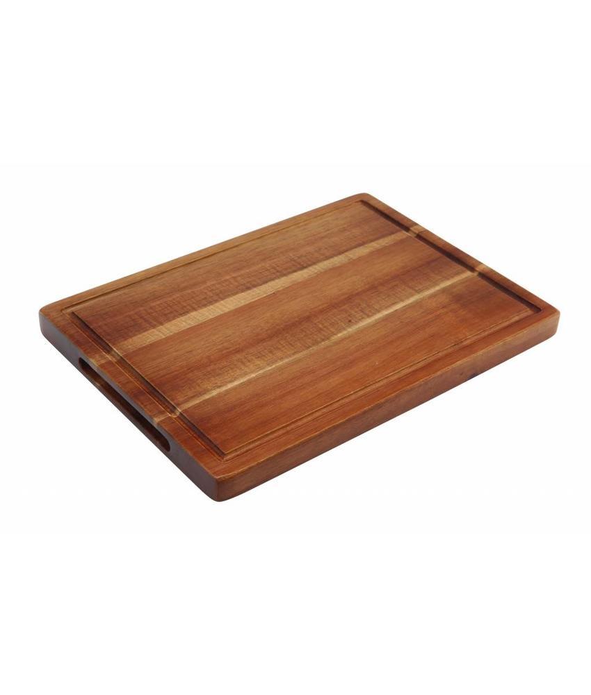 Stylepoint Acacia plank rechth. met inkeping 28 x 20 x 2 cm 12 stuk(s)