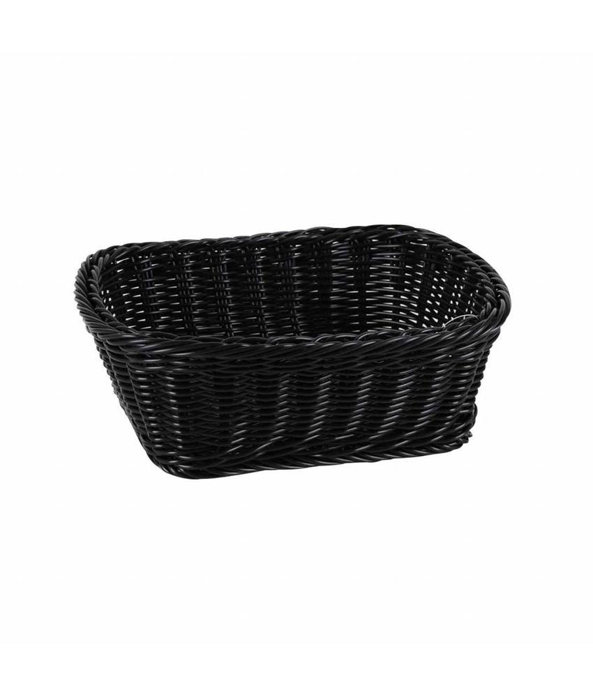 Stylepoint Broodmand polypr. rechth. 23 x 18 x 8 cm zwart 12 stuk(s)