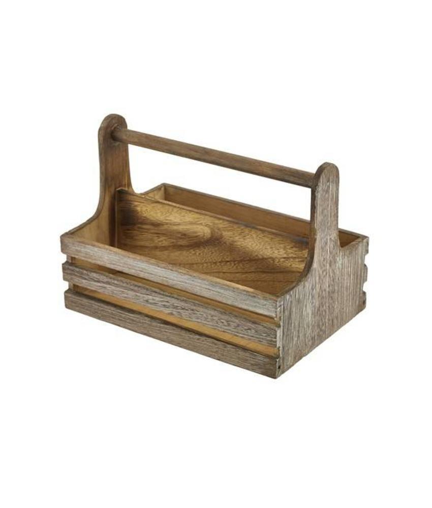 Stylepoint Houten tafelcaddy rustiek 24,5 x 16,5 x 18 cm 10 stuk(s)