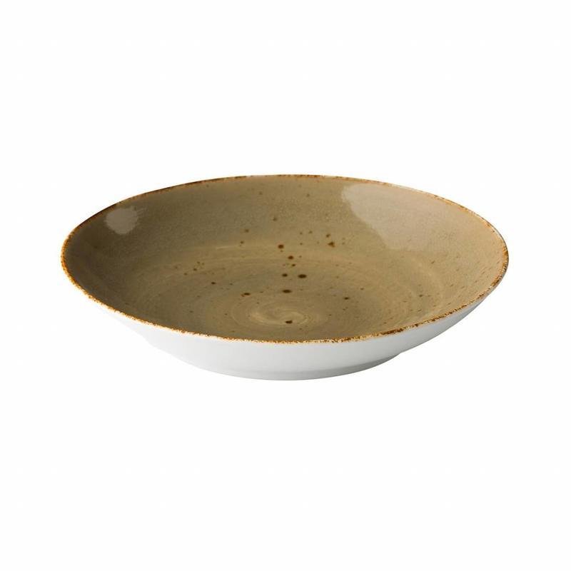 Q Authentic Sand Coupe pastabord reactive sand 26,2 cm      6 stuk(s)