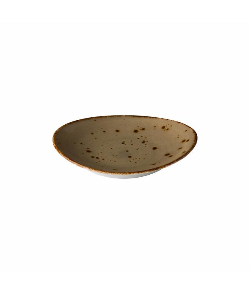 Q Authentic Sand Ovaal bord reactive sand 21,5 x 19 cm 6 stuk(s)