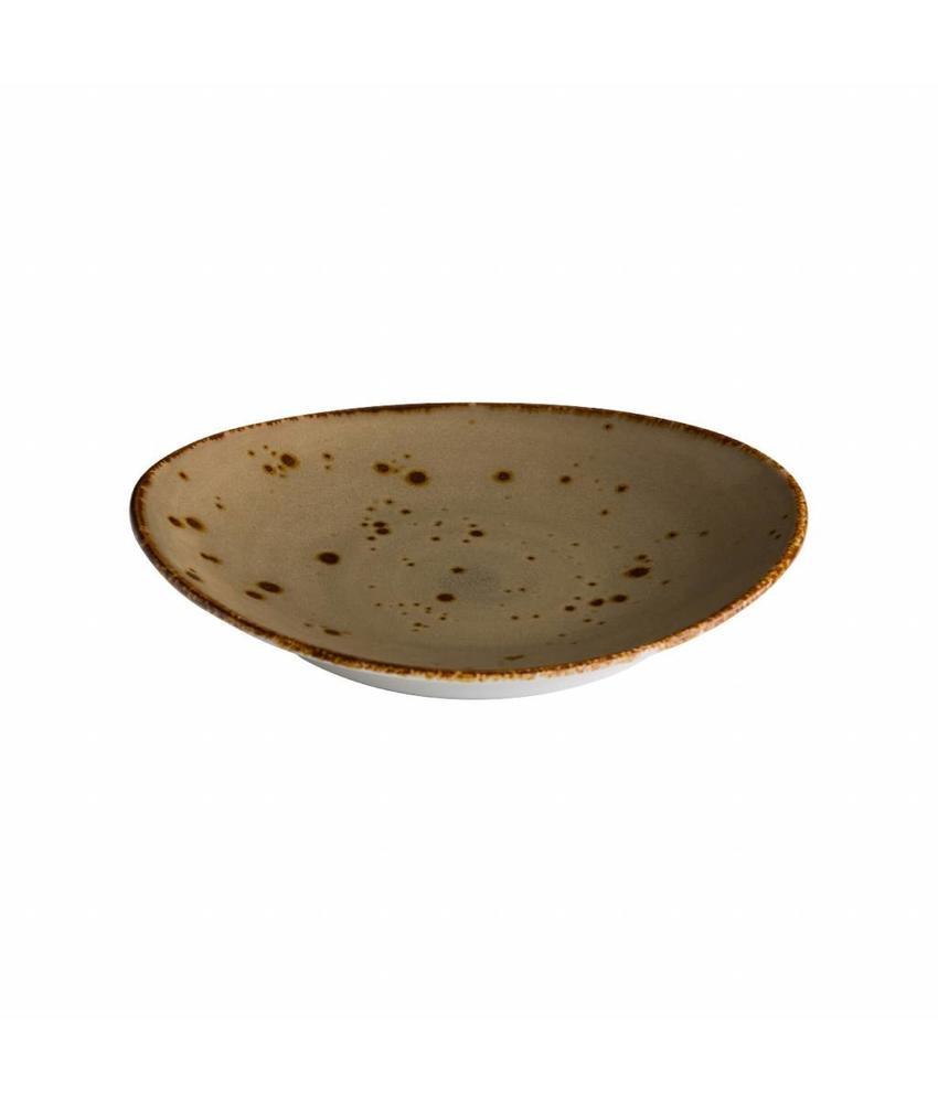 Q Authentic Sand Ovaal bord reactive sand 30 x 25,5 cm 3 stuk(s)