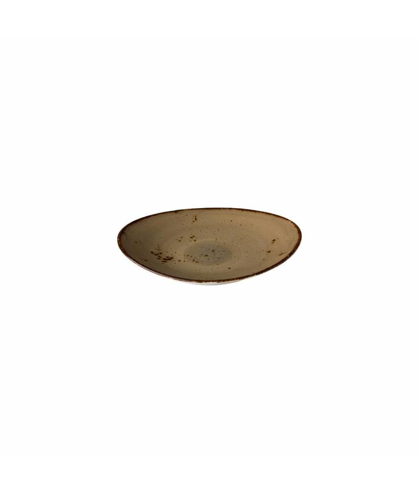 Q Authentic Sand Ovaal bord reactive sand 17,1 x 14,8 cm        6 stuk(s)
