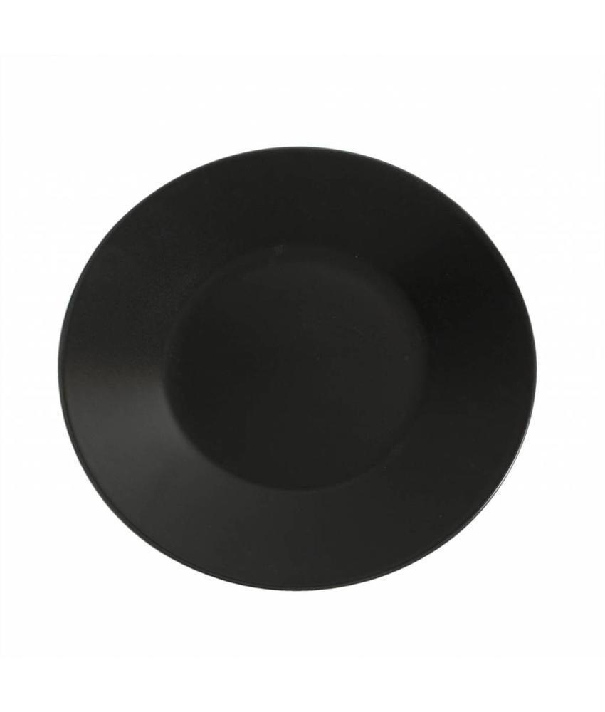 Stylepoint Aardewerk bord rond mat zwart 30 cm 12 stuk(s)