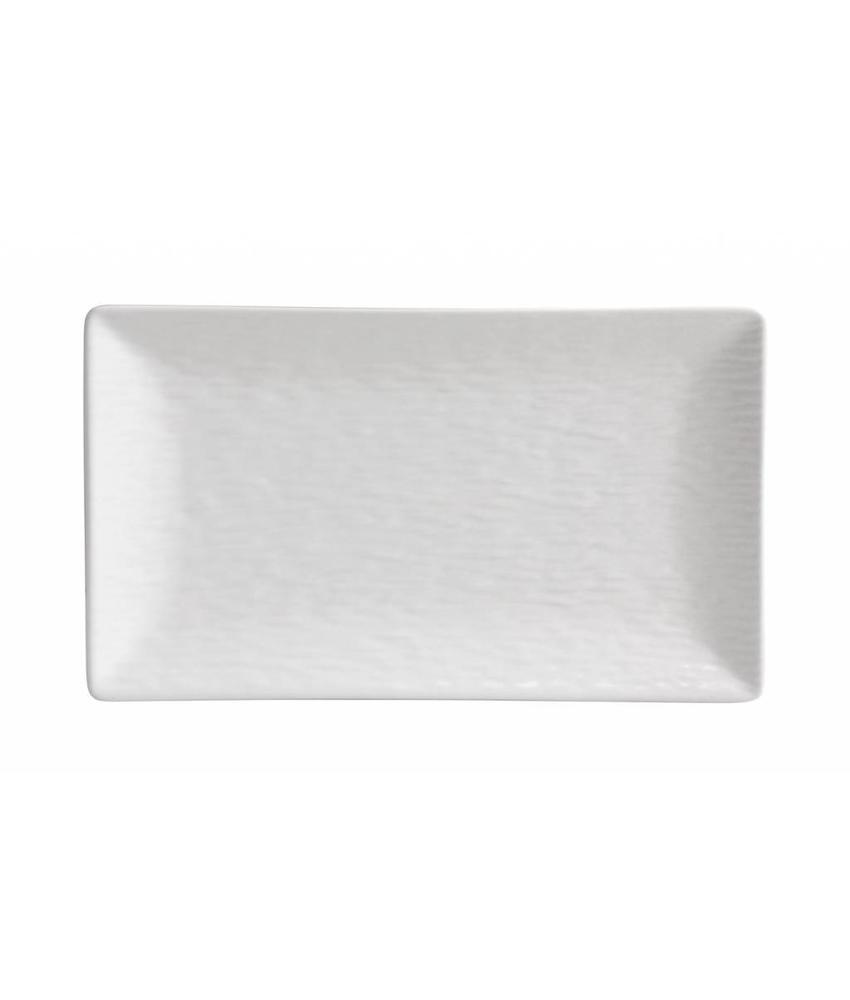 Stylepoint Aardewerk bord rechth. reliëf mat wit 25 x 15 cm 6 stuk(s)