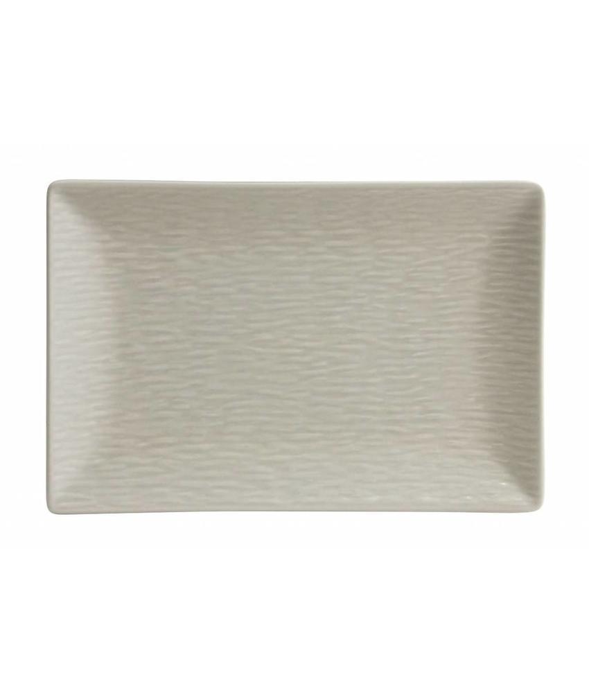 Stylepoint Aardewerk bord rechth. reliëf mat crème 30 x 20 cm 12 stuk(s)