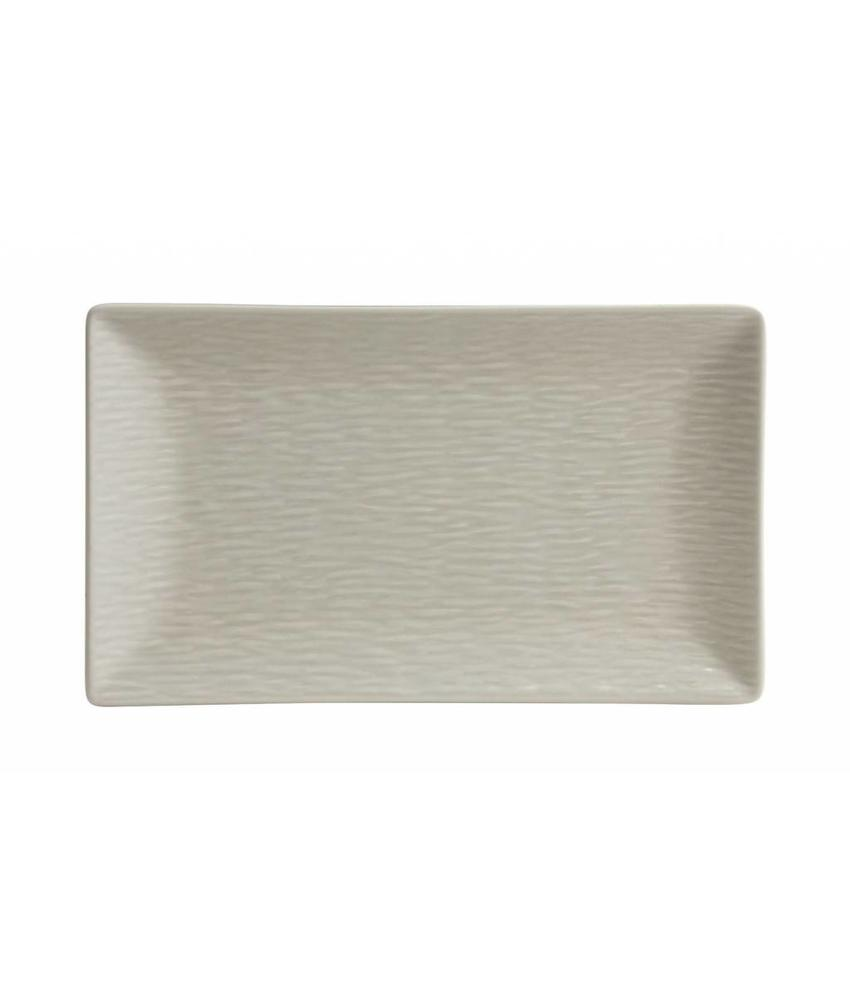 Stylepoint Aardewerk bord rechth. reliëf mat crème 25 x 15 cm 6 stuk(s)