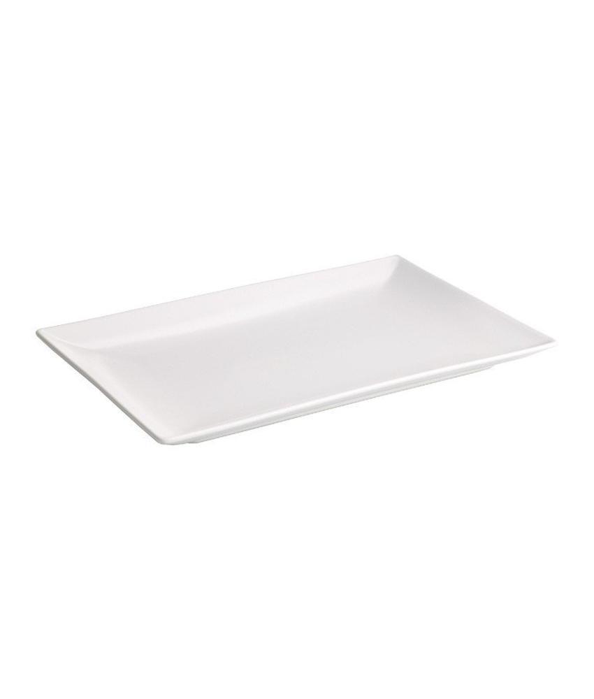 Stylepoint Aardewerk bord rechthoekig mat wit 25 x 15 cm 12 stuk(s)