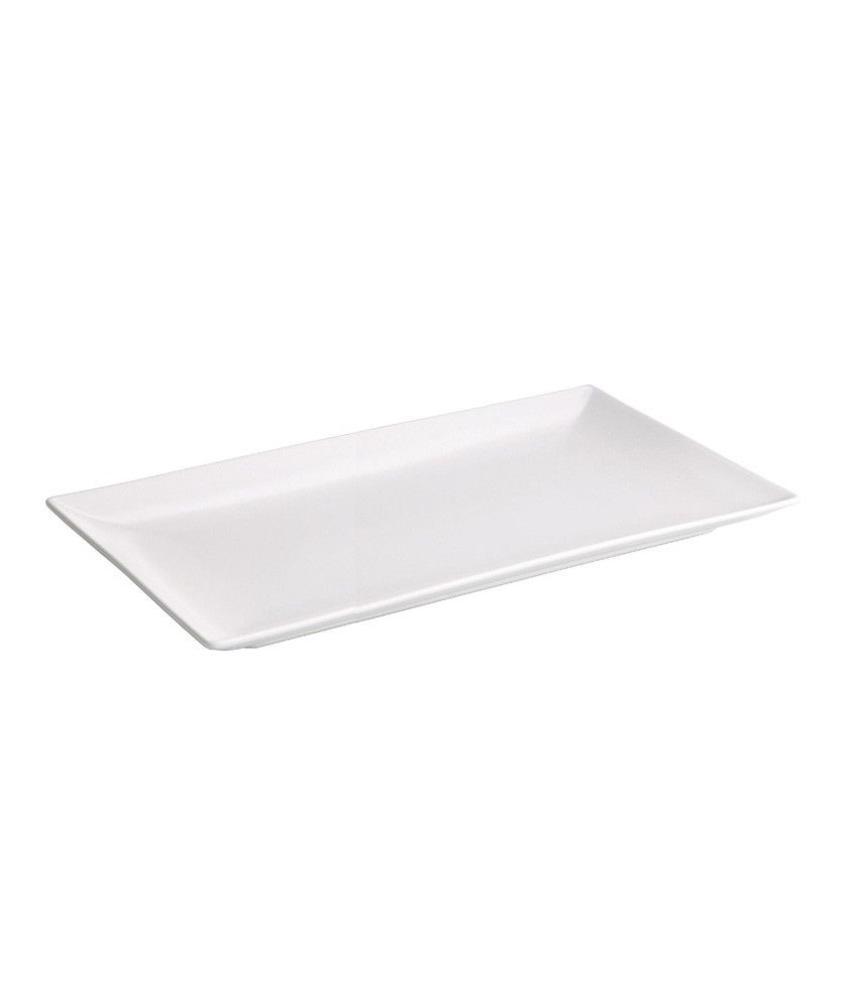 Stylepoint Aardewerk bord rechthoekig mat wit 30 x 15 cm 12 stuk(s)