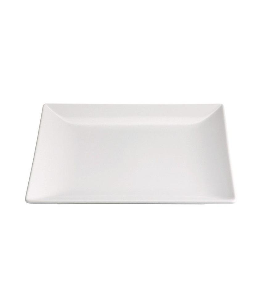 Stylepoint Aardewerk bord vierkant mat wit 18 cm 12 stuk(s)