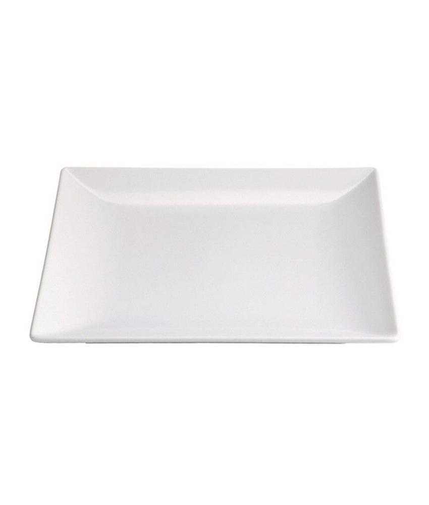 Stylepoint Aardewerk bord vierkant mat wit 24 cm 12 stuk(s)
