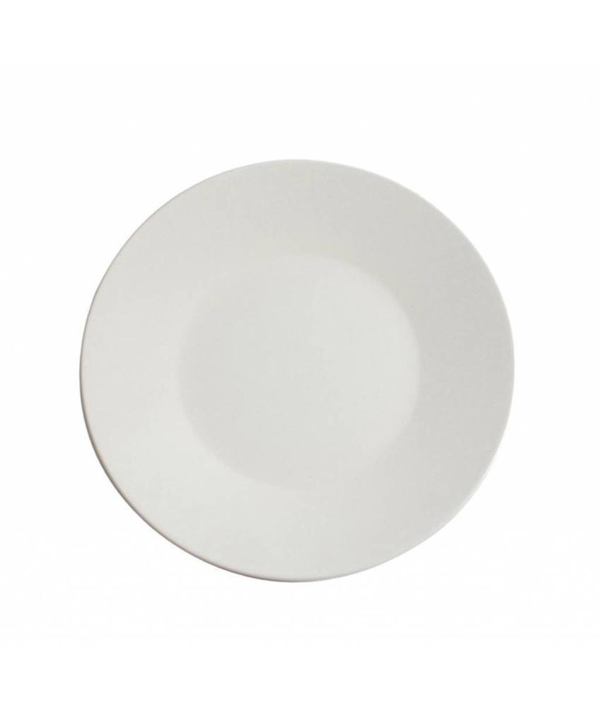 Stylepoint Aardewerk bord rond mat wit 25 cm 12 stuk(s)