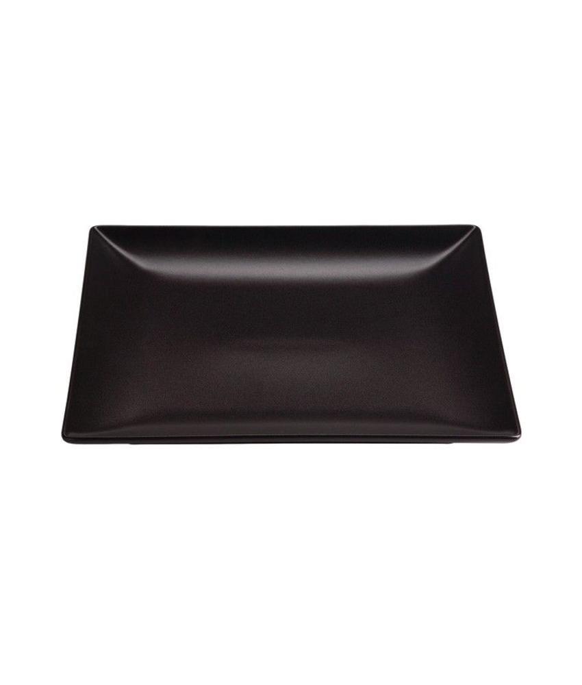 Stylepoint Aardewerk bord vierkant mat zwart 18 cm 12 stuk(s)