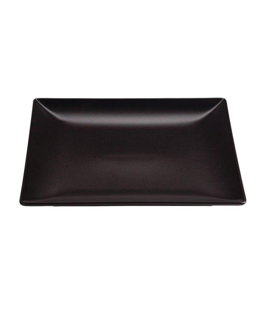 Stylepoint Aardewerk bord vierkant mat zwart 26 cm 12 stuk(s)