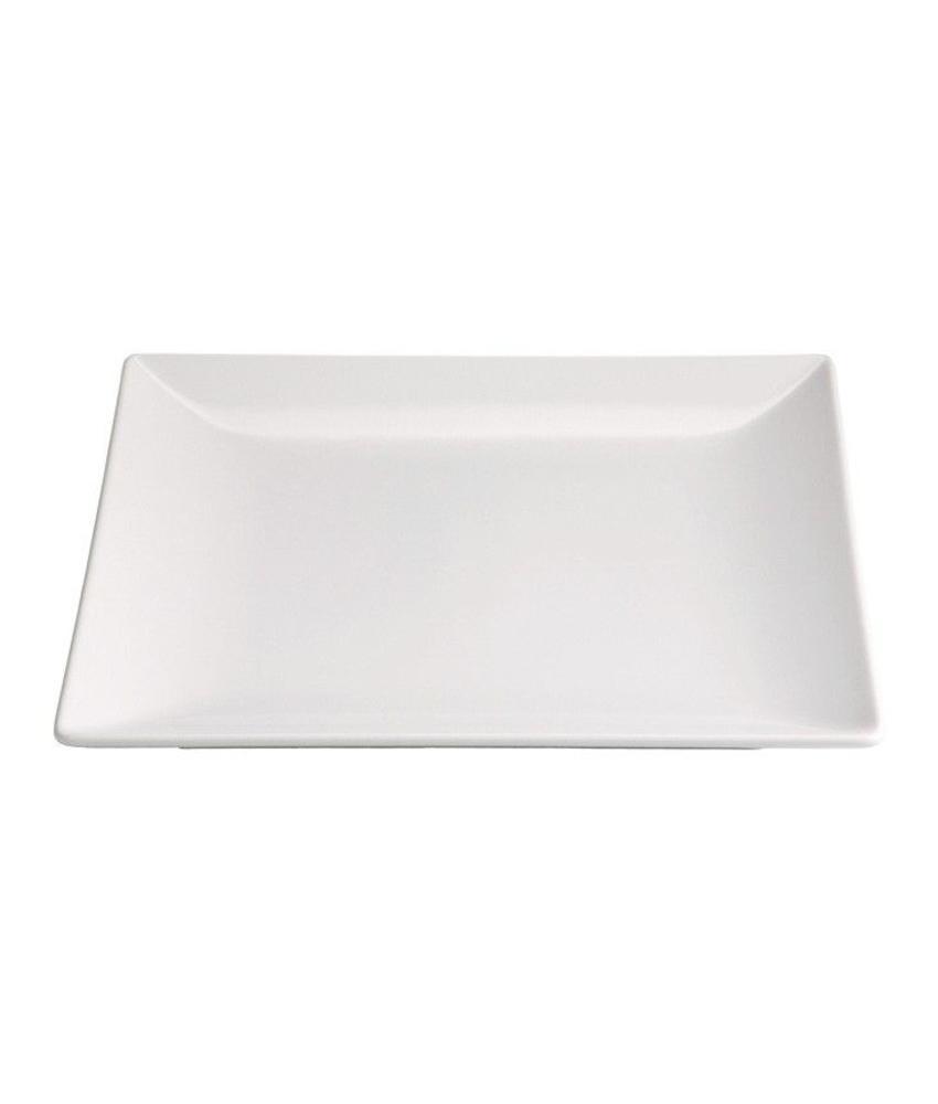 Stylepoint Aardewerk bord vierkant mat wit 26 cm 12 stuk(s)