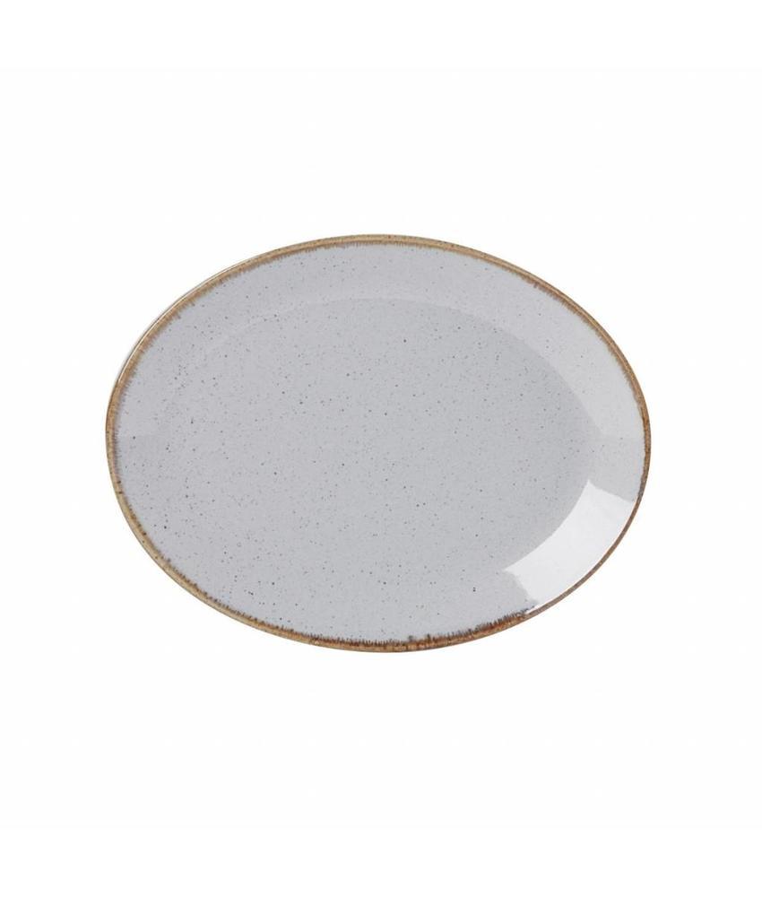 Porcelite Seasons Stone Ovaal bord Stone 30,5 cm 6 stuk(s)