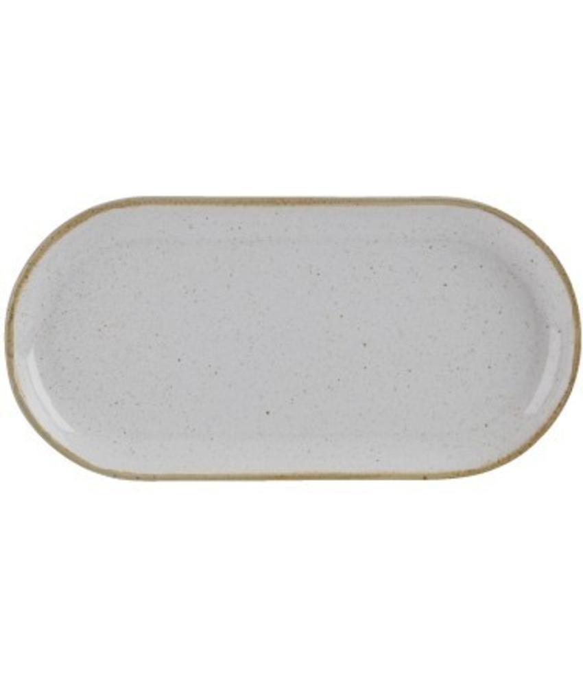 Porcelite Seasons Stone Smal ovaal bord Stone 30 cm 6 stuk(s)