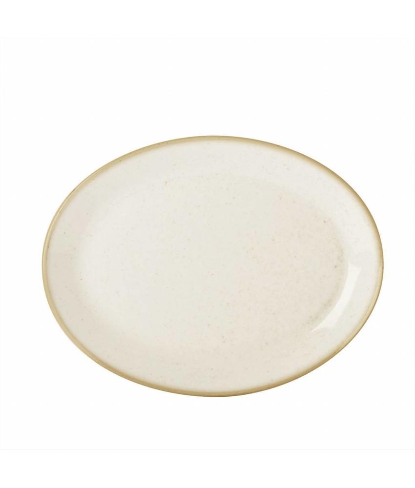 Porcelite Seasons Oatmeal Ovaal bord Oatmeal 30,5 cm 6 stuk(s)