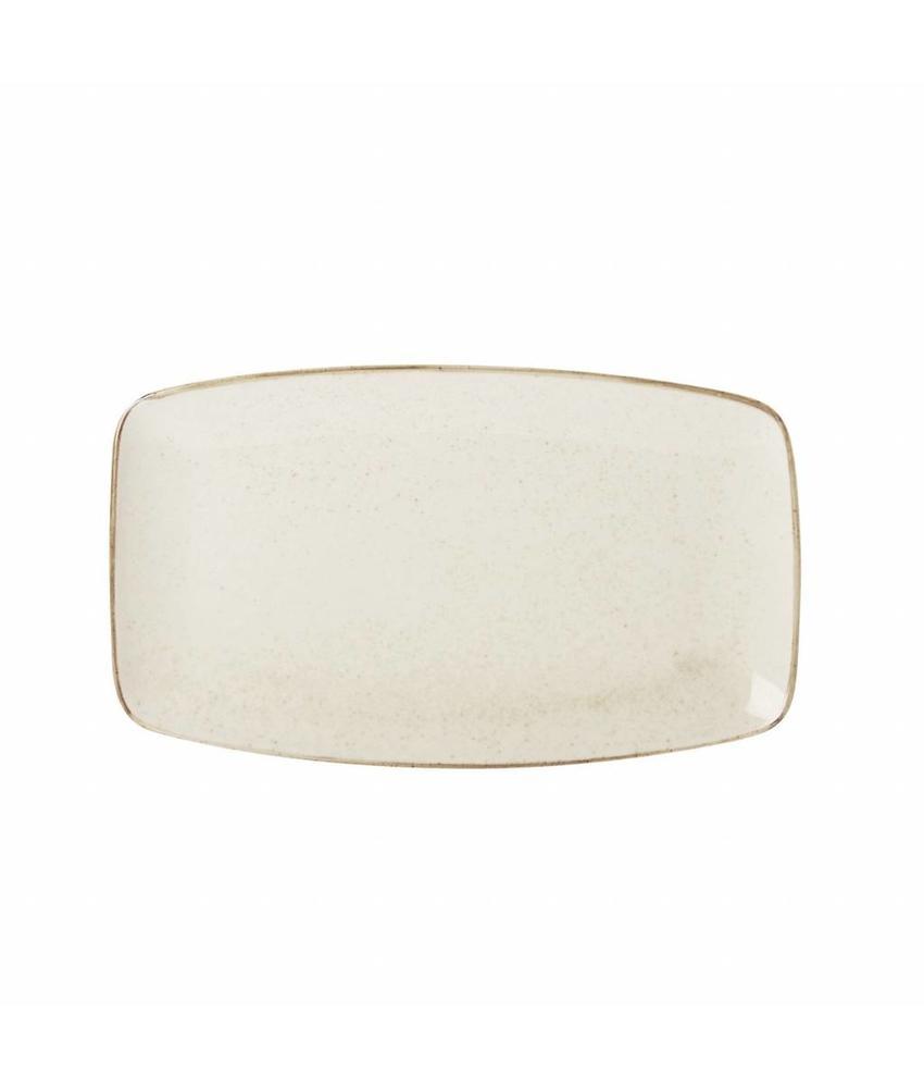 Porcelite Seasons Oatmeal Rechthoekig bord Oatmeal 31 x 18 cm 6 stuk(s)