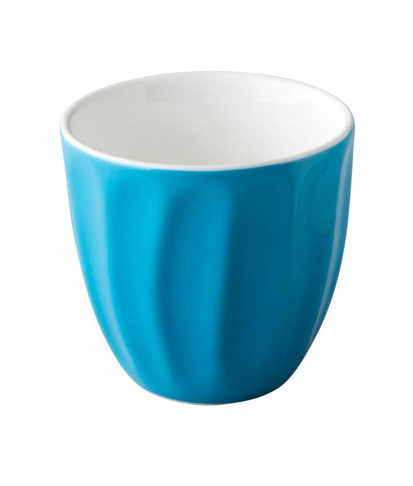 Stylepoint Koffiemokken stapelbaar zonder oor 180ml blauw 6 stuks
