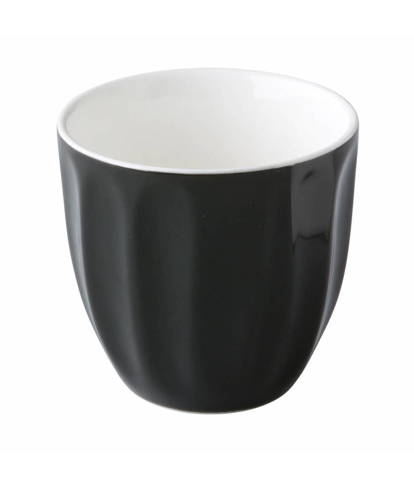 Stylepoint Stapelbare koffiekop zonder oor zwart 180 ml   6 stuk(s)