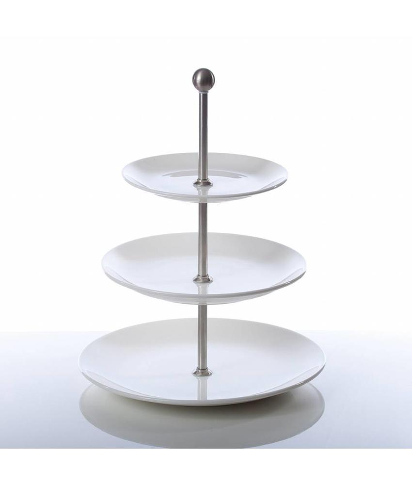 Q Fine China Alles-in-een Etagère 3 borden coupe 26 / 21,6 / 16,5 cm 1 stuk(s)