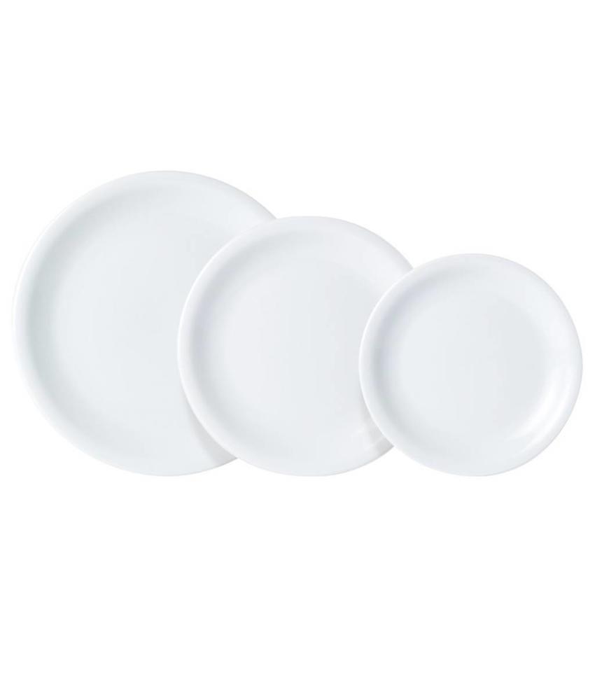 Porcelite Bord met smalle rand 16 cm               6 stuk(s)