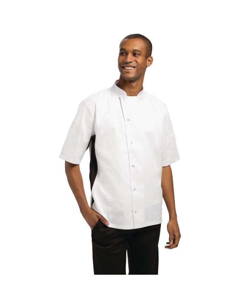 WHITES CHEFS APPAREL Whites Nevada koksbuis wit met zwart contrast L