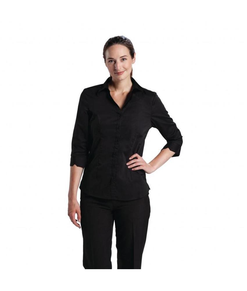 Chef Works Uniform Works dames stretch shirt zwart L