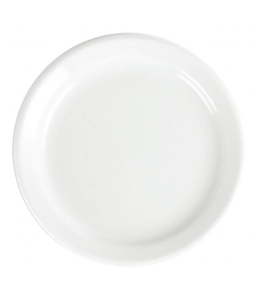Olympia Olympia Whiteware borden met smalle rand 18cm 12 stuks