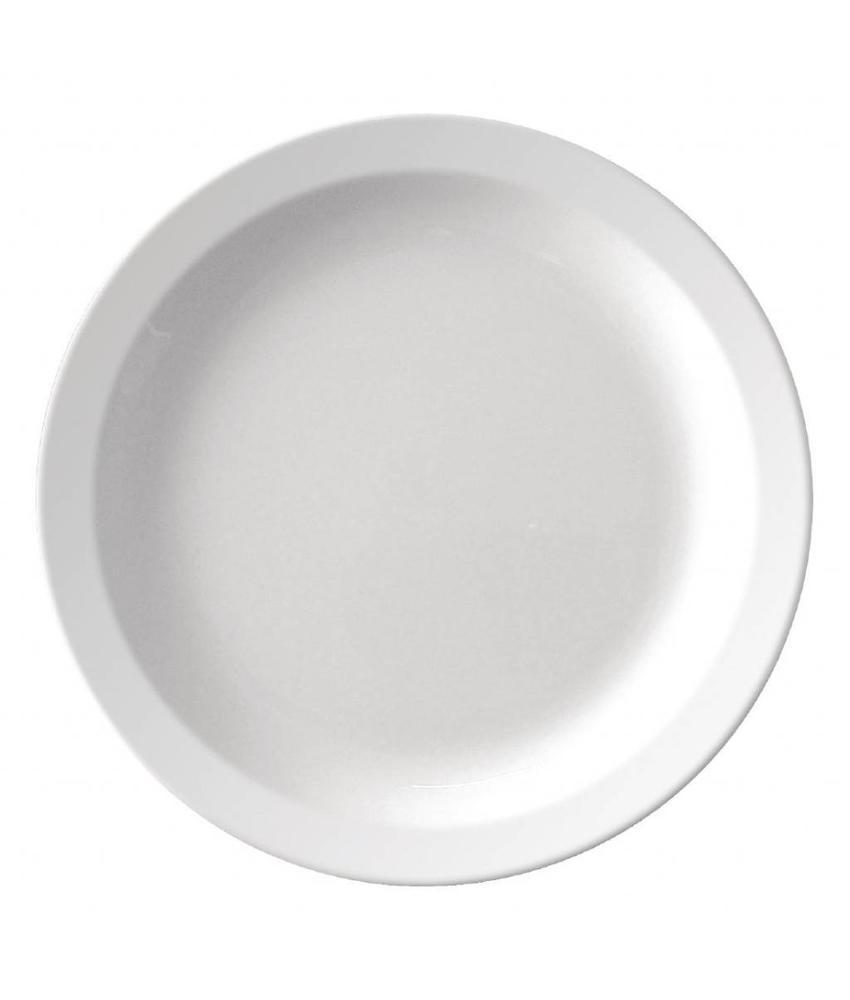 Kristallon Kristallon melamine bord met smalle rand 16,5cm 12 stuks