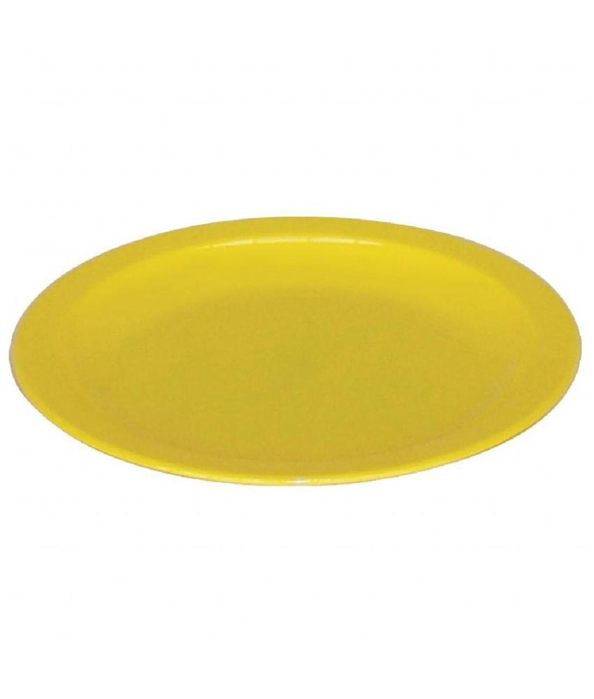 Kristallon Kristallon bord 23cm geel 12 stuks