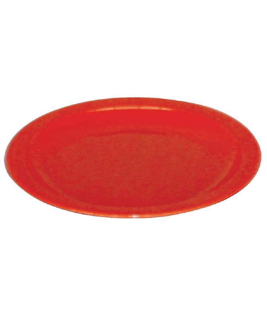 Kristallon Kristallon bord 23cm rood 12 stuks